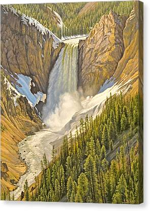 Lower Falls-may   Canvas Print by Paul Krapf