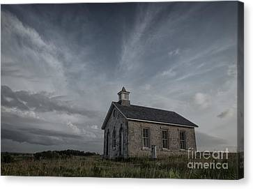 Old School Houses Canvas Print - Lower Fox Creek School  by Keith Kapple