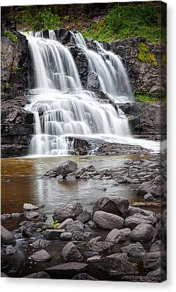 Lower Gooseberry Falls Canvas Print by Randall Nyhof