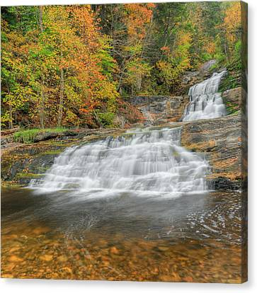 Lower Kent Falls Square Canvas Print by Bill Wakeley