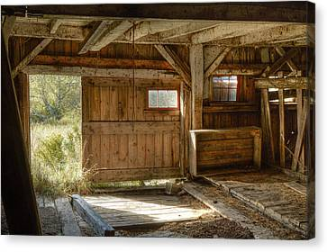 Lower Level Of The Barn Canvas Print