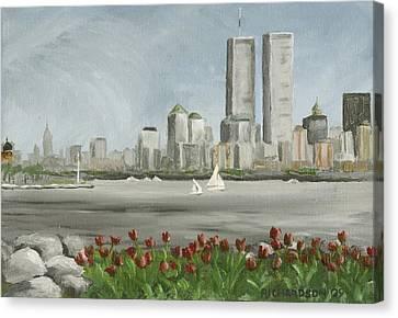 Lower Manhattan 1992 Canvas Print by Susan Richardson
