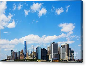 Lower Manhattan New York City Canvas Print by Diane Diederich