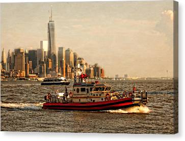 Lower Manhattan New York Canvas Print