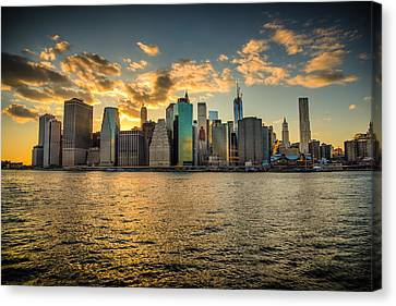 Lower Manhattan Sunset Canvas Print by Chris McKenna