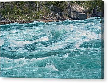 Lower Niagara River Ontario Canada Canvas Print by Marek Poplawski