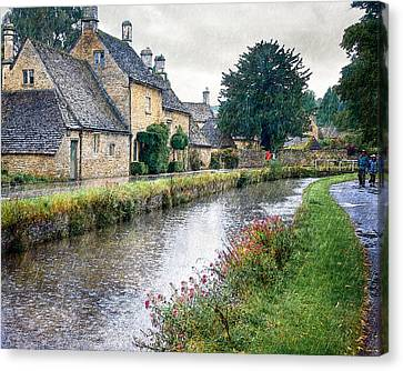Lower Slaughter Canvas Print by William Beuther