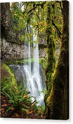 Canvas Print featuring the photograph Lower South Falls by Brian Bonham