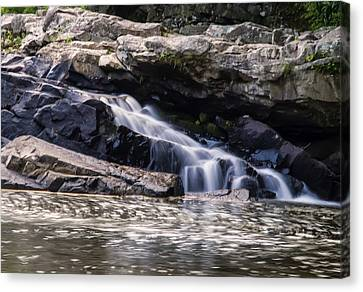 Lower Swallow Falls Stairsteps Canvas Print by Chris Flees