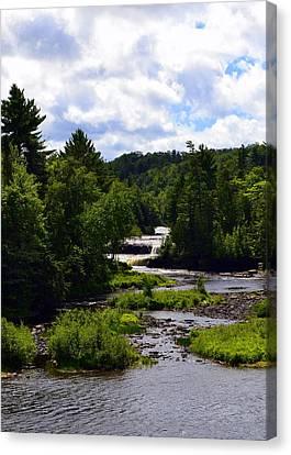 Lower Tahquamenon Falls Ll Canvas Print by Michelle Calkins