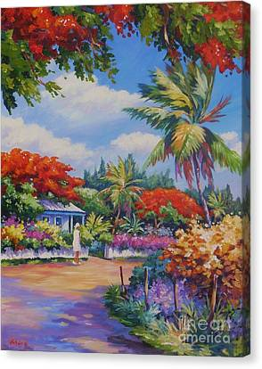 Hibiscus Canvas Print - Lower Valley by John Clark