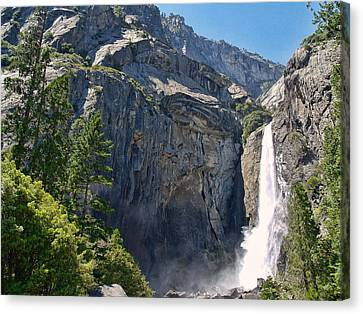 Lower Yosemite Falls Canvas Print by Philip Tolok