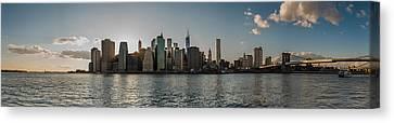 Lowerr Manhattan Panoramic Canvas Print by Chris McKenna
