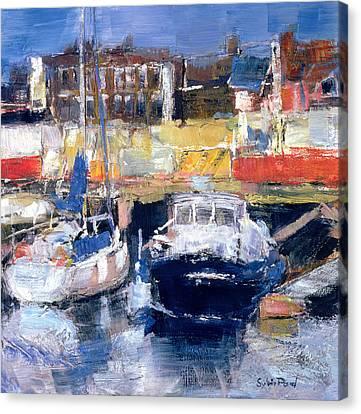 Lowestoft Harbour View Canvas Print