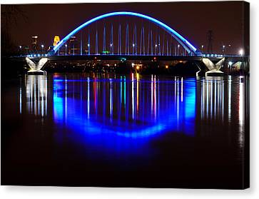 Canvas Print featuring the photograph Lowry Bridge by RC Pics