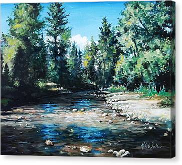 Lowry Creek Run Canvas Print by Mike Worthen