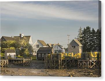 Lowtide In Port Clyde Maine Canvas Print by Keith Webber Jr