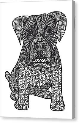 Loyalty- Boxer Dog Canvas Print by Dianne Ferrer