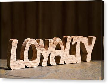 Loyalty Canvas Print by Donald  Erickson