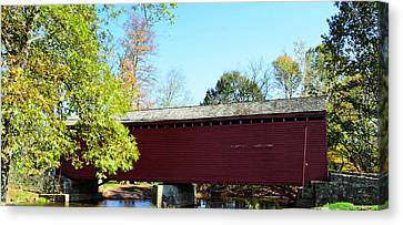 Loy's Station Covered Bridge Canvas Print by Cathy Shiflett