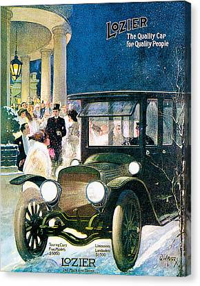 Lozier Canvas Print by Vintage Automobile Ads and Posters