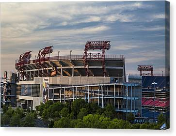 Nashville Tennessee Canvas Print - Lp Field - Nashville Tennessee  by John McGraw