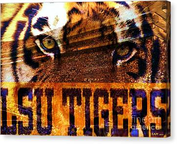 The Tiger Canvas Print - Lsu - Death Valley by Elizabeth McTaggart