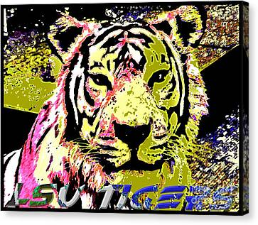 Lsu Fighting Tigers Canvas Print by RJ Aguilar