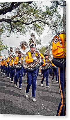 Lsu Marching Band 2 Canvas Print by Steve Harrington