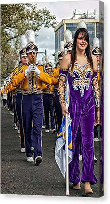 Lsu Marching Band 5 Canvas Print by Steve Harrington
