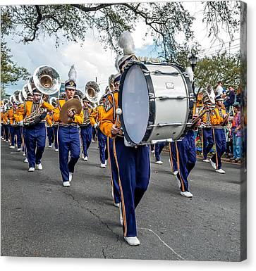 Marching Band Canvas Print - Lsu Tigers Band 3 by Steve Harrington