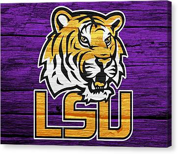 Lsu Tigers Barn Door Canvas Print by Dan Sproul