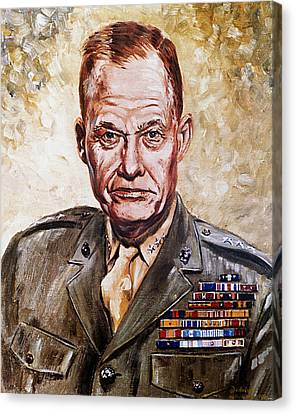 Lt Gen Lewis Puller Canvas Print by Mountain Dreams