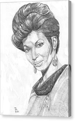 Lt. Uhura Canvas Print