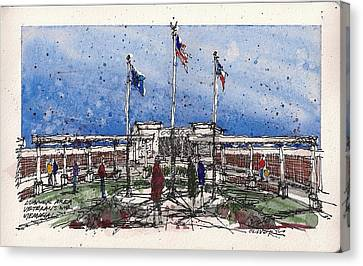 Canvas Print featuring the mixed media Lubbock Area Veterans War Memorial by Tim Oliver
