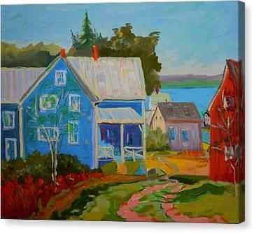 Lubec Village Canvas Print
