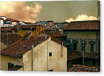 Lucca At Dusk Canvas Print