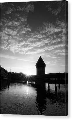 Lucerne Switzerland At Sunrise Canvas Print