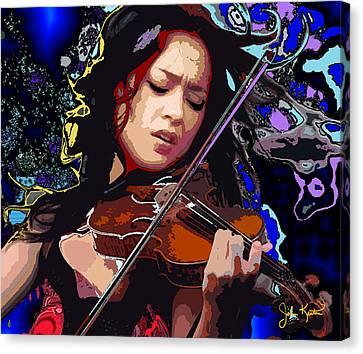 Lucia Micarelli Canvas Print by John Keaton