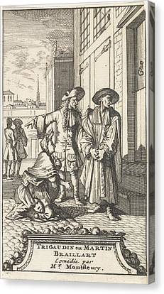 Riviere Canvas Print - Lucie Kneels For La Riviere Who Is Dressed Up As A Spiritual by Caspar Luyken And Adriaan Braakman
