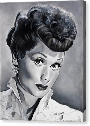 Lucille Ball Canvas Print by Brian Broadway