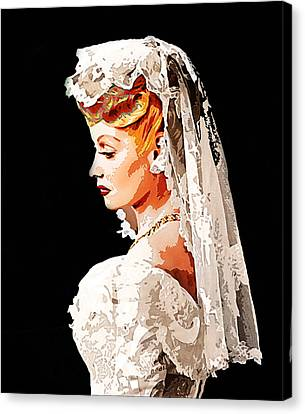Lucille Ball Bride Canvas Print by Nuno Marques