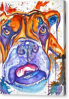 Lucille Boxer Blues  Canvas Print