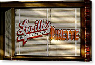 Lucille's Dinette Canvas Print by Bud Simpson