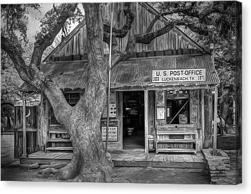 Dirt Canvas Print - Luckenbach 2 Black And White by Scott Norris