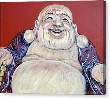 Lucky Buddha Canvas Print by Tom Roderick