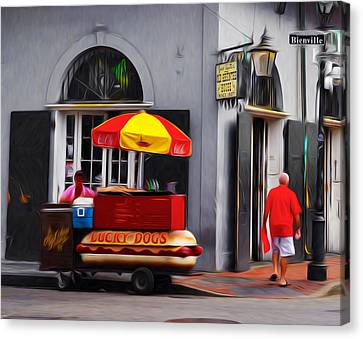 Lucky Dogs - New Orleans Canvas Print by Bill Cannon