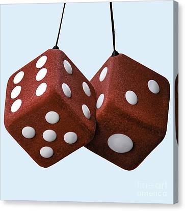 Lucky Fuzzy Red Dice  Canvas Print