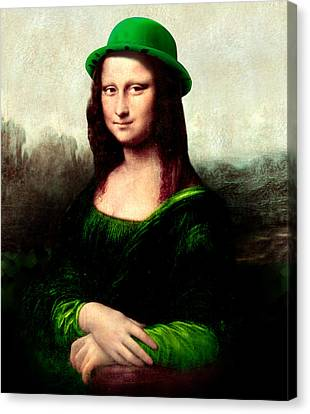 Lucky Mona Lisa Canvas Print by Gravityx9  Designs