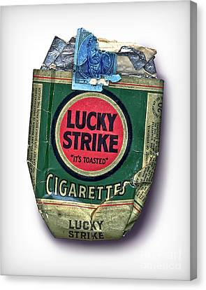 1940's Lucky Strike Green Canvas Print